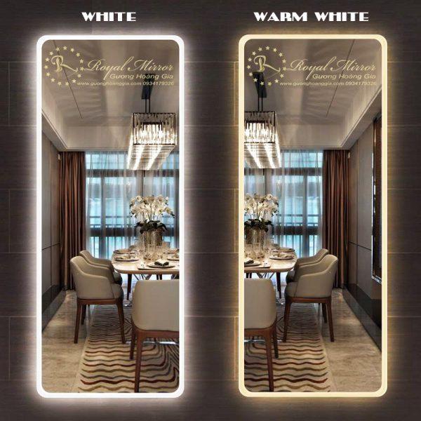 Gương Toàn Thân đèn LED đổi màu Trắng & Vàng tùy chọn