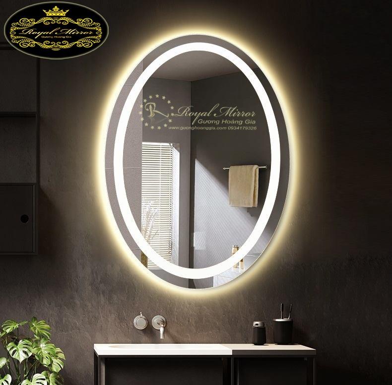 Gương LED Viền Sáng hình Oval