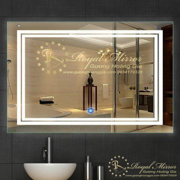 Gương nhà tắm LED Viền sáng hình chữ nhật