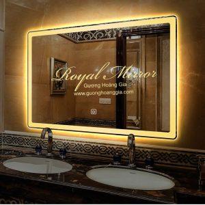 Gương nhà tắm LED Viền Sáng có Sấy gương chống mờ hơi nước, Bản tiêu chuẩn 60 X 80 CM