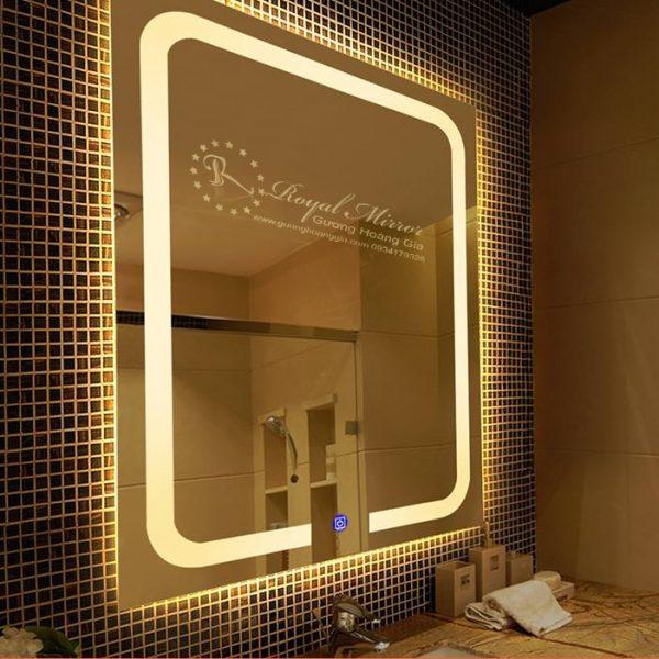 Thiết kế tràn viền với LED Viền sáng và Nút cảm ứng hiện đại, Đây là sản phẩm thực sự hữu ích và ấn tượng trong không gian của bạn
