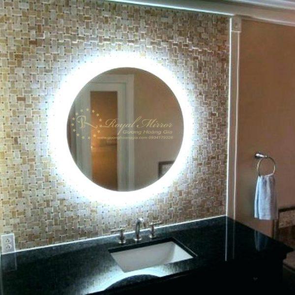 Gương tràn viền tròn LED cảm ứng siêu sáng