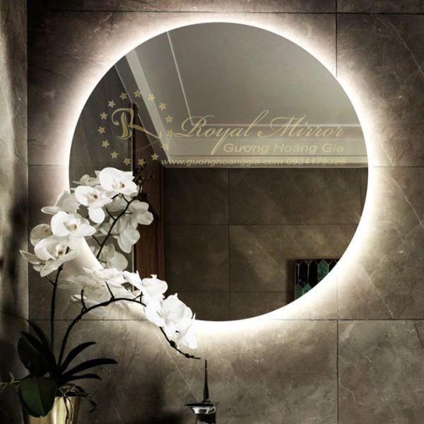 Gương Tràn Viền - LED cảm ứng 1 Chạm - Sấy gương