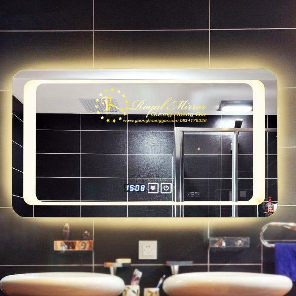 Gương đèn LED siêu sáng tích hợp sấy gương phá sương bám mờ mặt gương