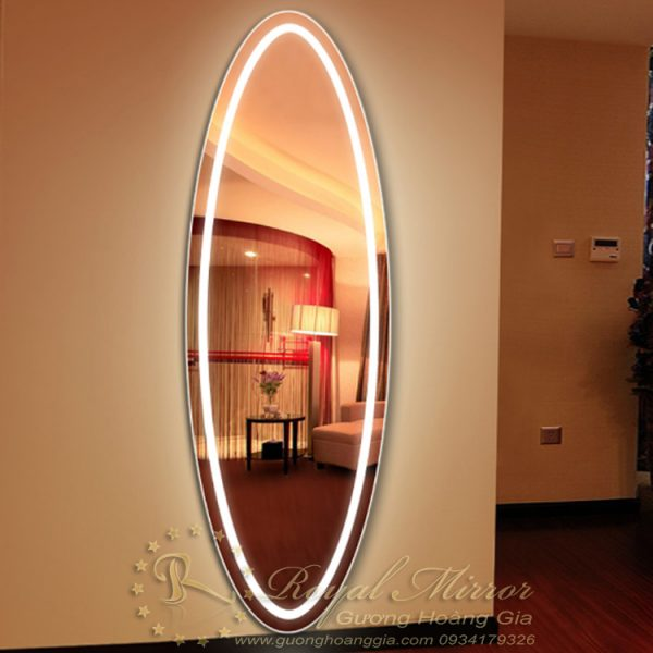 Gường đèn LED toàn thân OVAL sang trọng