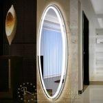 Gường đèn LED toàn thân OVAL sang trọng sử dụng cho phòng thay đồ, phòng khách, phòng ngủ...