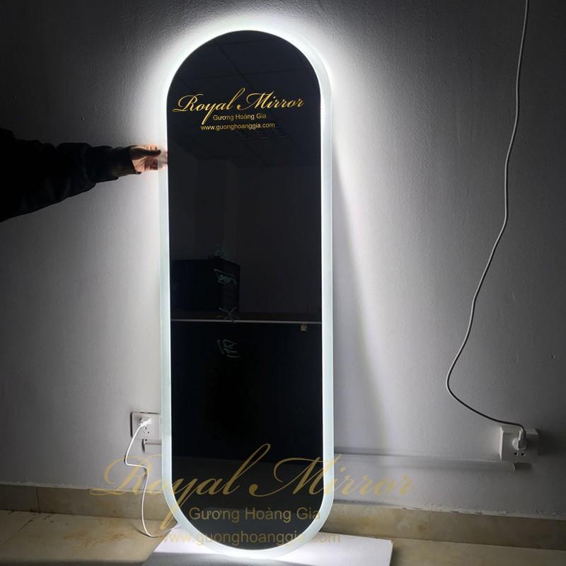 Gương thử đồ toàn thân đèn LED cao cấp, gương Bỉ siêu sáng, bền