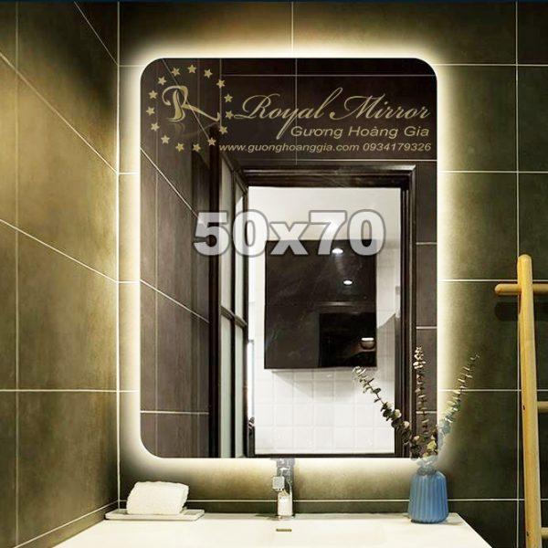 Gương LED hắt giá rẻ Hình chữ nhật đứng kt 50x70cm CND572