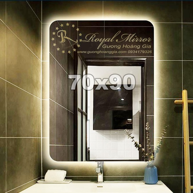 Gương đèn LED giá rẻ Hình chữ nhật đứng kt 70x90cm CND792
