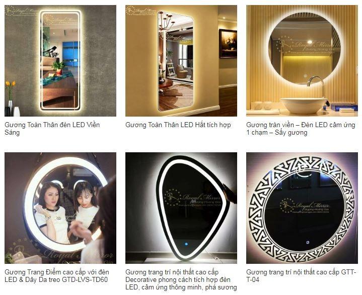 Báo giá phân phối Gương đèn LED Hoàng Gia