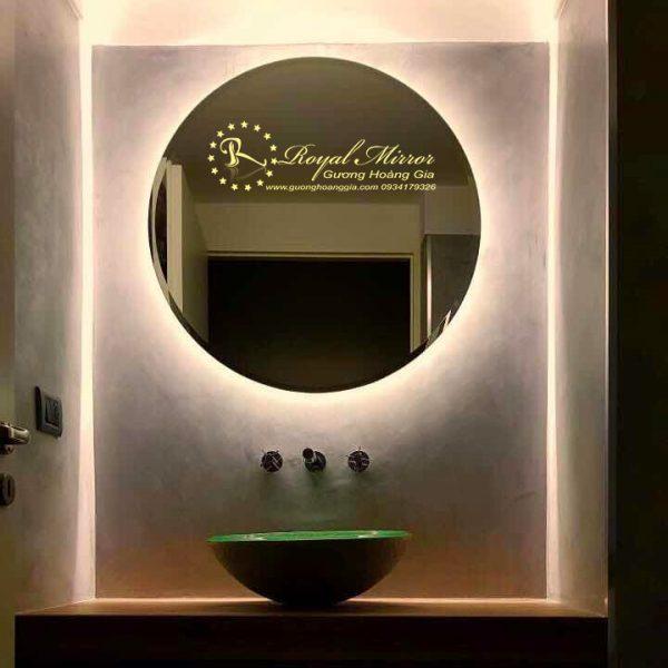 Gương đèn LED tròn ánh sáng Vàng