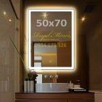 Gương đèn LED cảm ứng chữ nhật đứng kt 5070 đèn LED sáng Trắng
