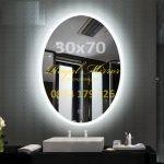 Gương Elip đèn LED cảm ứng chạm Kích thước 30*70 E371