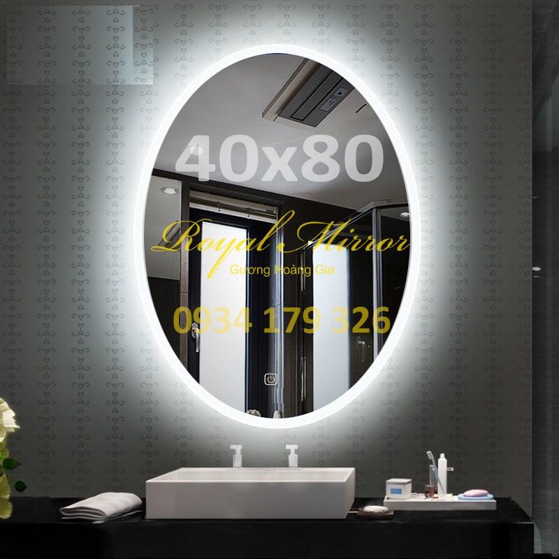 Gương Elip LED cảm ứng chạm Kích thước 40*80 E481 ánh sáng Trắng