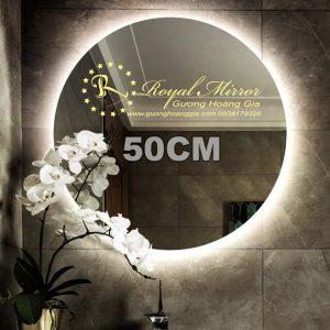 Gương LED Tròn giá tốt tại xưởng - LED hắt đẹp, gương Bỉ 5mm siêu bền, đường kính 50cm, mã T502