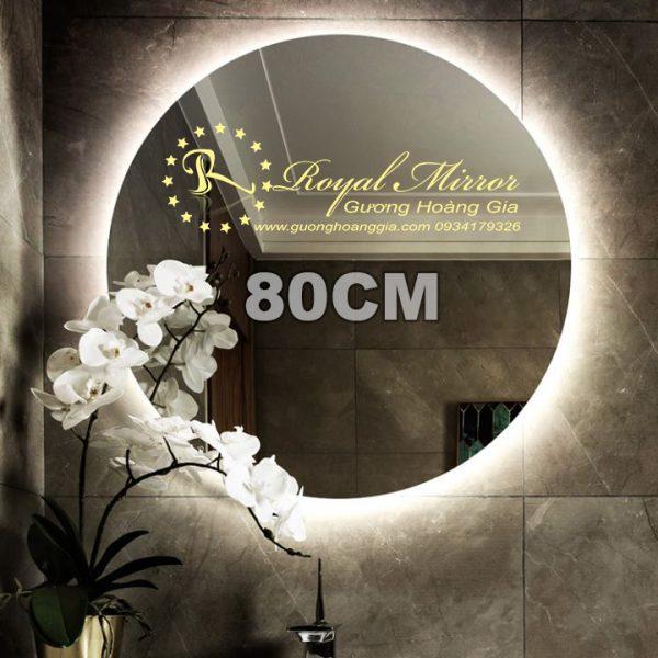 Gương đèn LED tròn giá rẻ tại Xưởng Hoàng Gia Hà Nội đường kính 80cm LED sáng Trắng