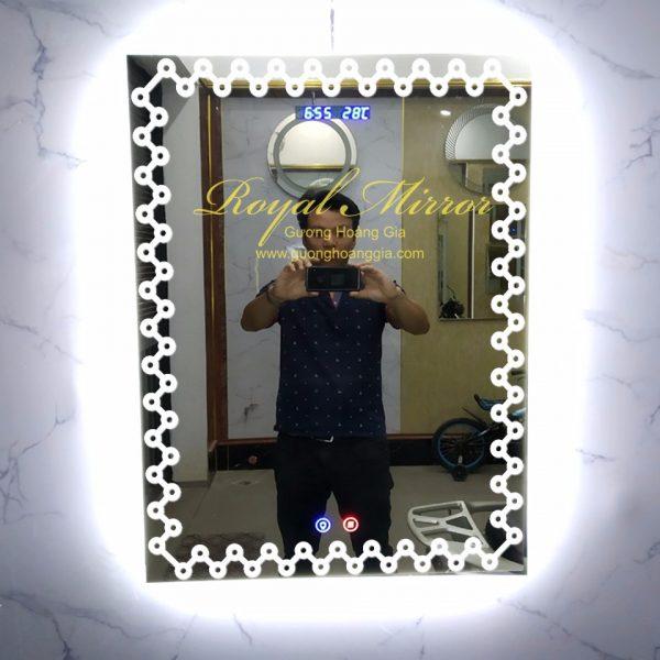 Mẫu gương đèn LED chữ nhật decor trang trí mới 2019