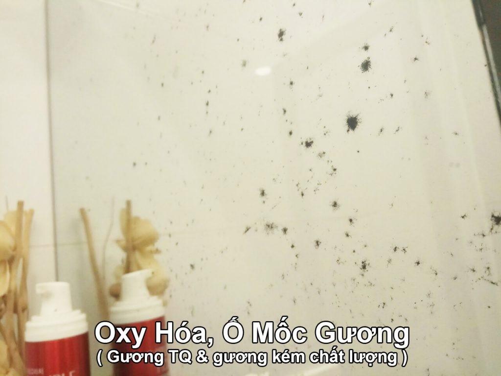 Gương Trung Quốc & Gương kém chất lượng rất nhanh ố mốc, oxy hóa