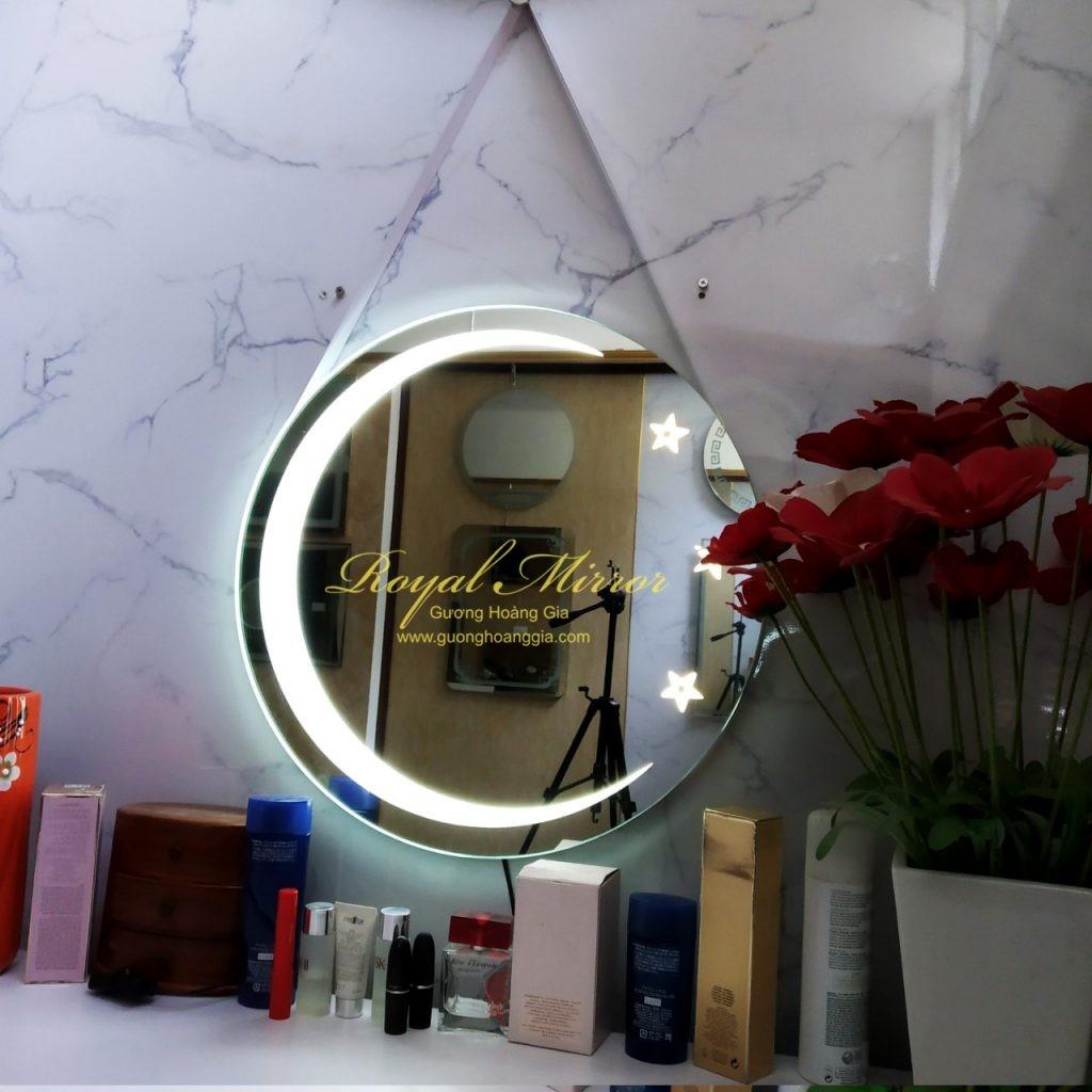 Gương LED Tròn Trăng - Sao, có đèn ngủ