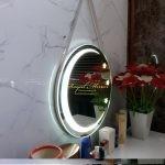 Gương LED Tròn dây treo Trăng - Sao, có đèn ngủ