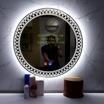 Gương LED Tròn decor mỹ thuật