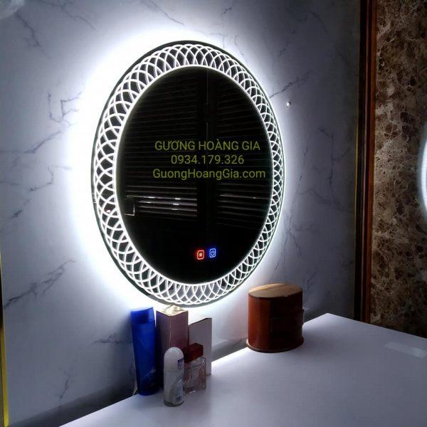 Gương LED Tròn decor mỹ thuật cho phòng tắm, bàn trang điểm, trang trí nội thất