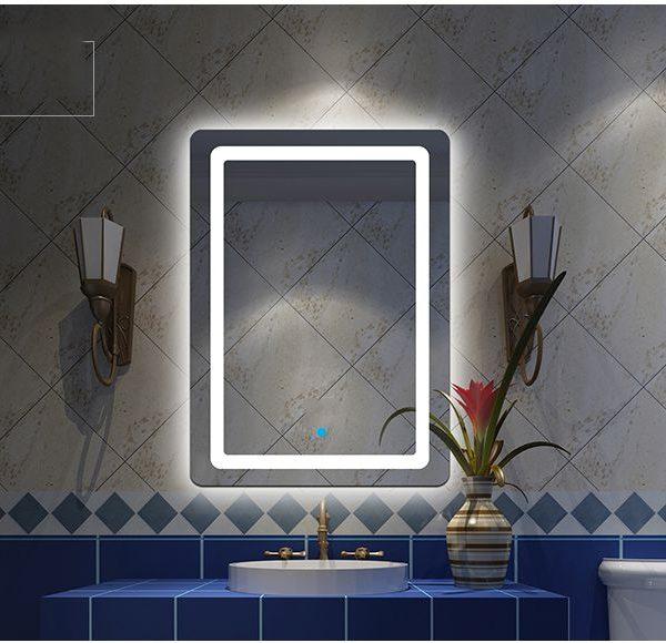 Gương Phòng Tắm Có đèn LED và Nút bật tắt Cảm ứng Chạm, Giá Xả Kho cắt lô giá rẻ, Số lượng có hạn