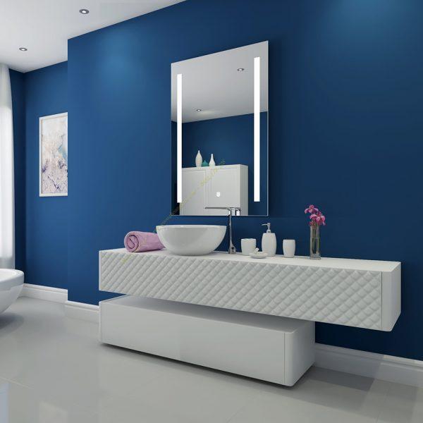 Gương phòng tắm đèn LED cảm ứng Thanh lý hàng xuất dư KT70*90 mã VIN2