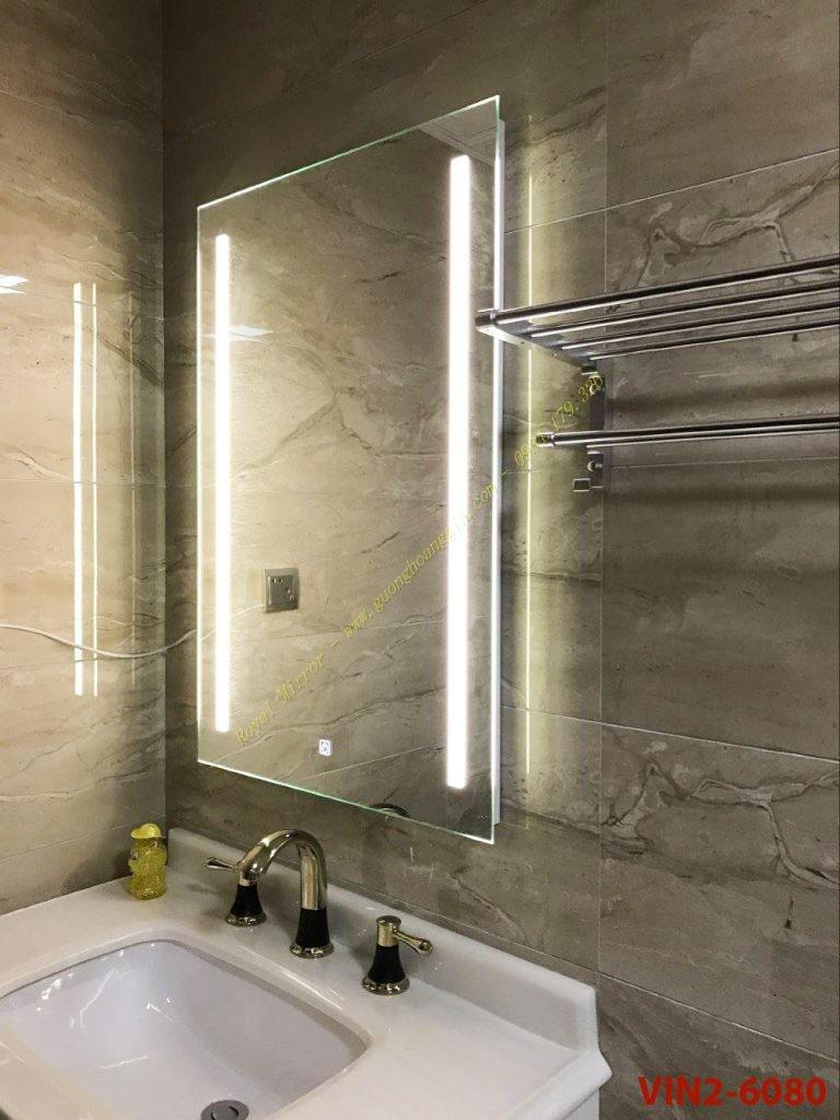 Thanh lý Gương Đèn LED Phòng Tắm, Cảm Ứng Bật/ Tắt, Hàng xuất dư- KT 60*80cm VIN2-6080