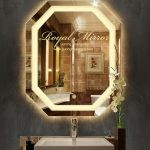 Gương phòng tắm Bát Giác thông minh với đèn decor 3D và công tắc cảm ứng chạm bật tắt