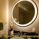 Gương LED Tròn 60*60 Phòng tắm, Bàn Trang Điểm, Salon