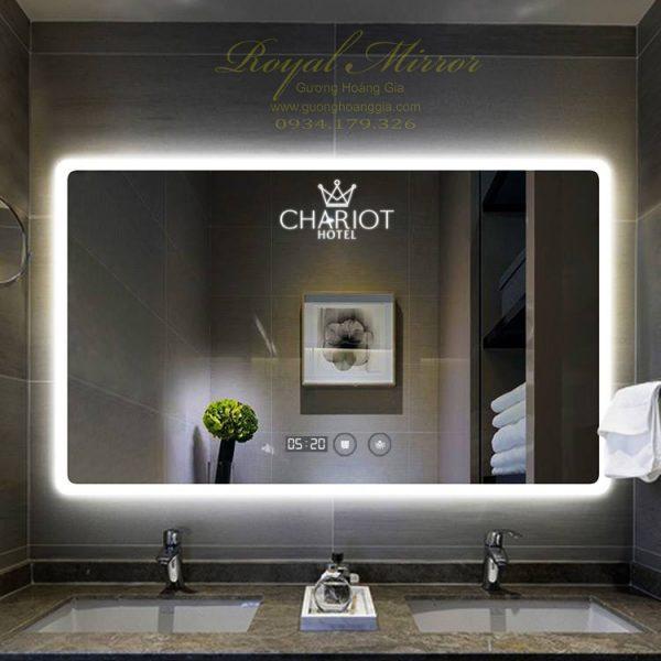 Gương thông minh cao cấp khách sạn resort khắc logo