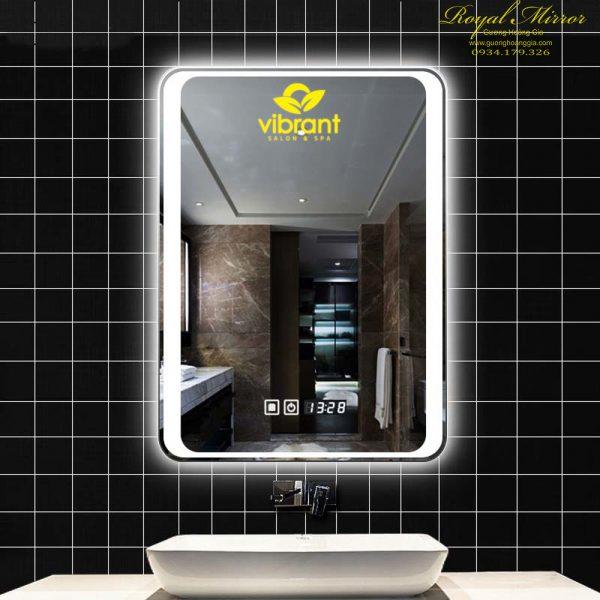 Gương phòng tắm đặt riêng kiểu dáng khắc logo thương hiệu