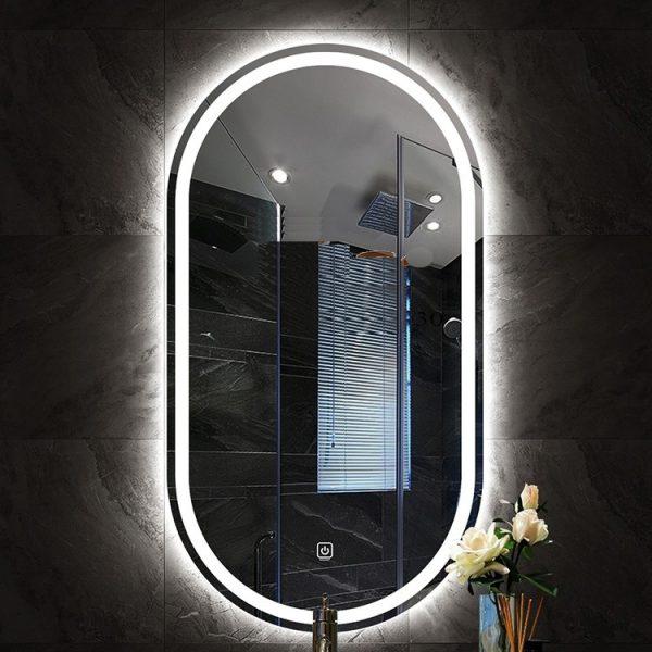 Gương OVAL đèn LED cảm ứng cao cấp