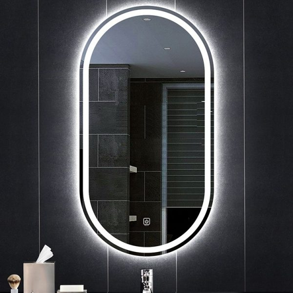 Gương Phòng Tắm OVAL Đèn LED cảm ứng sang trọng hiện đại