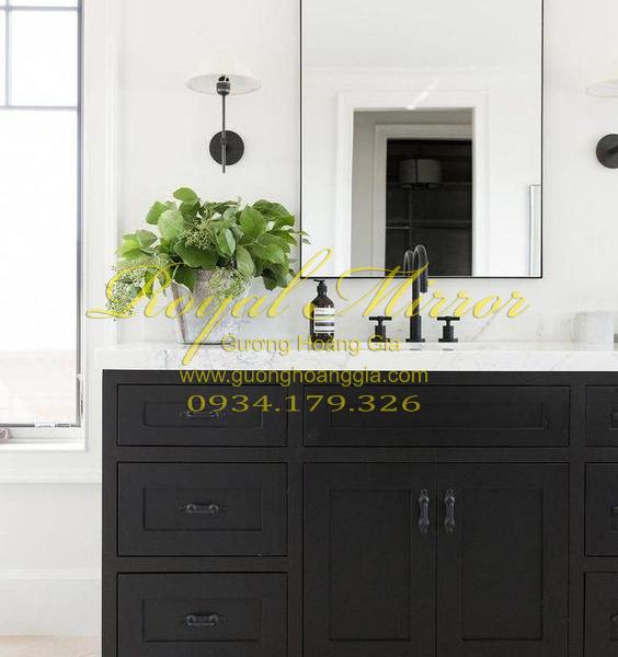 Gương phòng tắm Khung Nhôm Hợp Kim cao cấp - màu Đen