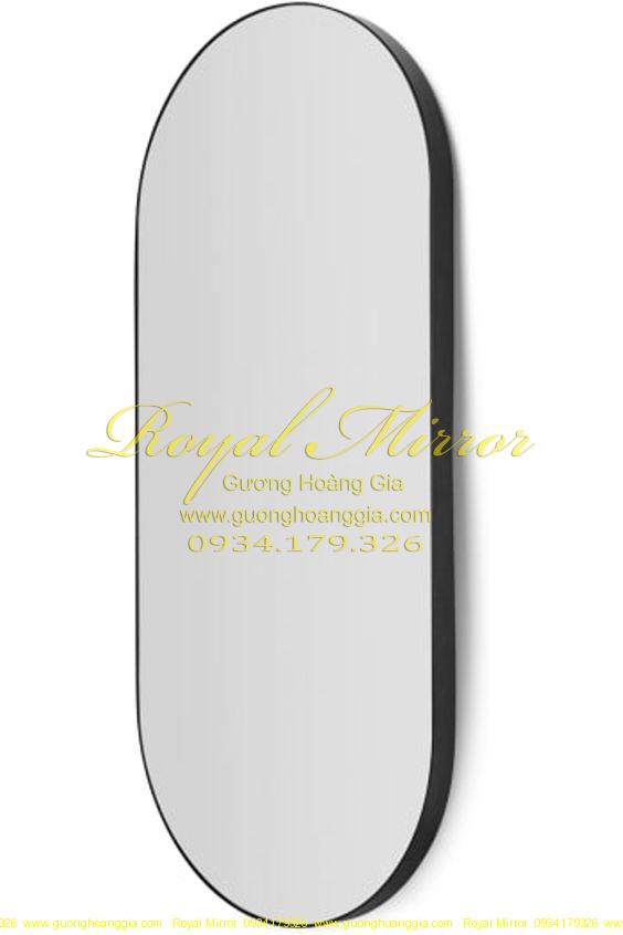 Gương thiết kế OVAL Decor viền hợp kim nhôm cao cấp màu ĐEN