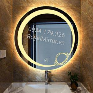 Gương đèn led tròn bán phấn DC203