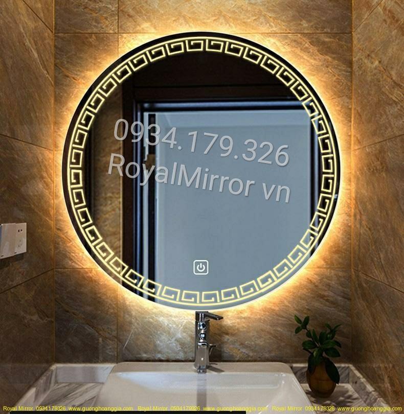 Gương đèn LED tròn trang trí DC204