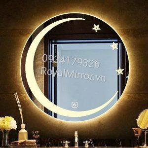 Gương đèn LED tròn lavabo decor DC205