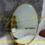 Gương nội thất mạ vàng bóng cao cấp
