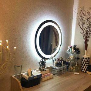 Gương đèn trang điểm cao cấp. Thiết kế tròn Fi 50cm. Mã RT3-50 ECO