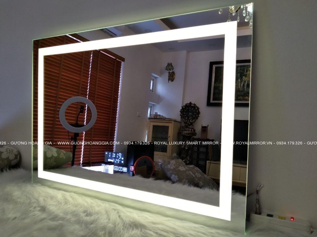 Gương thông minh Bluetooth đa chức năng cao cấp. Đèn, Cảm ứng, Sấy gương, Đồng hồ, Nhiệt độ, Nghe nhạc USB MP3, Kết nối Smartphone