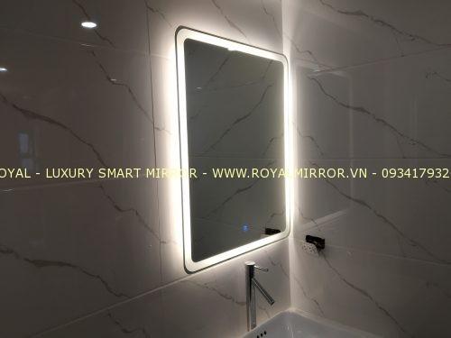 Gương phòng tắm cao cấp bàn giao tại hà nội