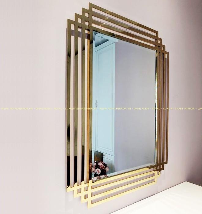 Gương nội thất mạ vàng pvd cao cấp
