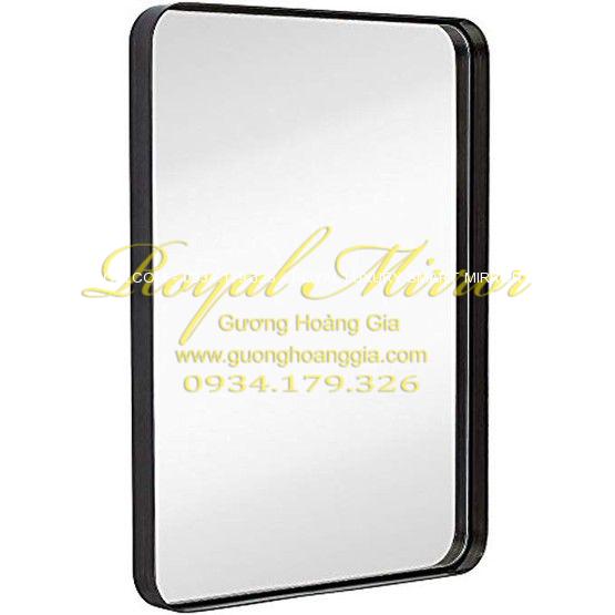 Gương khung thép sơn tĩnh điện 60x80cm Hoàng Gia