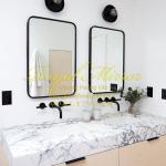 Gương bàn lavabo 60*80 khung thép đen