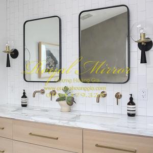 Gương lavabo đôi Khung thép sơn tĩnh điện 60*80cm