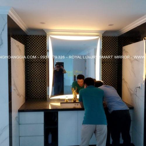 Gương đèn LED bàn lavabo khổ lớn