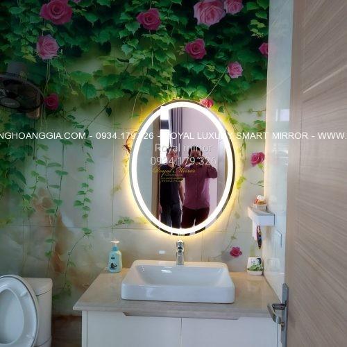 Gương LED Elip bàn lavabo phòng tắm